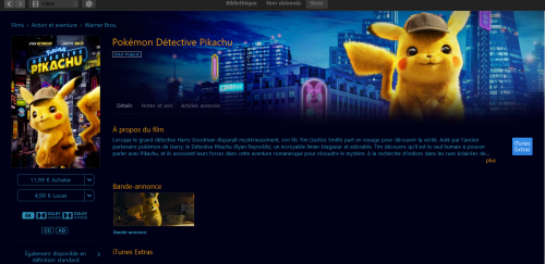 Film Detective Pikachu Itunes